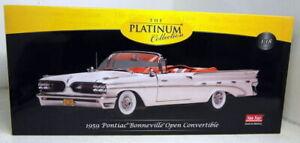 Sunstar 1/18 Diecast 5184 - 1959 Pontiac Bonneville Open Conv - Cameo Ivory