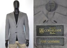 Men's Corneliani Blazer 52IT 42US/UK Gray 100% Cashmere Two Button Made in Italy