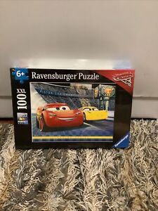 Ravensburger Cars3 100XXL PC Jigsaw Puzzle McQueen Racing Series Disney~PreOwned