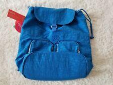 Kipling Raychel Nylon Laptop Backpack Azure Blue with Monkey Keychain NWT