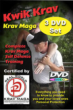 """Kwik Krav Maga 3 Disk Set"" For those with No Time to Train. Dvd"