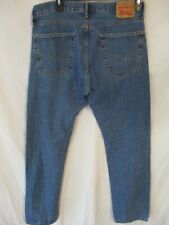 Levi's 505 100% Cotton 36 x 34 Med  Rinse Straight Fit Blue Jeans