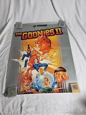 The Goonies II  NES NINTENDO VIDEO GAME BOX POSTER ORIGINAL 80'S