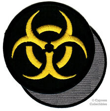 BIOHAZARD nuclear embroidered PATCH ZOMBIE BLACK emblem w VELCRO® Brand Fastener