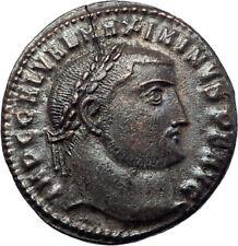 MAXIMINUS II Daia 313AD Genuine Silvered Ancient Roman Coin Nude GENIUS i73643