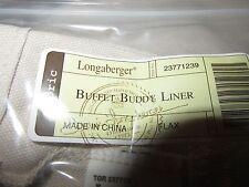 Longaberger Buffet Buddy Bowl Basket Liner Flax Fabric