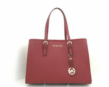 Authentic Michael Kors Large EW Tote Vanilla PVC Signature Jet Set Travel
