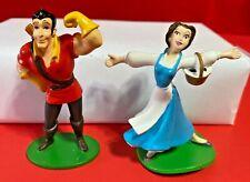 Disney BELLE & GASTON Cake TOPPER Beauty & the BEAST Toy USED B2