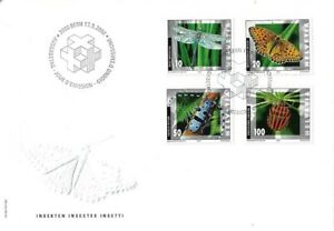 SWITZERLAND 2002 INSECTS FIRST DAY COVER