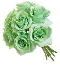 MINT GREEN ~  Roses Bridal Bouquet Silk Wedding Flowers Centerpieces Bridesmaids