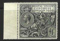 GB 1929 £1 BLACK PUC-MARGINAL (SG438) LMM