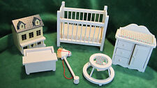 Dollhouse Miniature Furniture ~ Six Piece Nursery Set ~ Baby's  Room ~ Infant ~