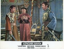 OMAR SHARIF GENGHIS KHAN 1965 3 VINTAGE LOBBY CARDS ORIGINAL LOT