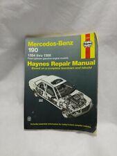 Haynes Automotive Repair Manual 63015 - Mercedes Benz 190 1984-1988 Gas Engine