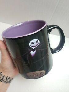 The Nightmare Before Christmas 20 oz Coffee Mug Disney Jack Skeleton Black Large