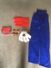Adults Medium Mario Costume Outfit Fancy Dress
