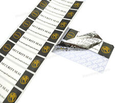 More details for tamper evident void security seal label sticker residue security asset labels