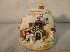 Lilliput Lane Its Ice To Make Friends 2002 The British Collection L2540 Deed