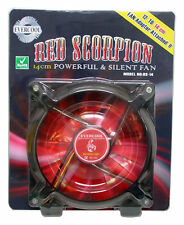 Evercool Red Scorpion Silent 140mm Fan w/ 120mm Adapter