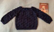 Misha & Puff Merino Popcorn Sweater, Ink, 2-3 Years