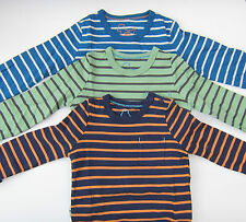 BODEN BOYS LONG SLEEVED STRIPE TOP TEE SHIRT 100% COTTON AGES 2-10 BNWOT