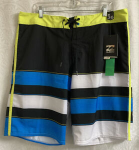 Men's Billabong Board Shorts Size 36 L NWT Platinum X Performance Multi Color