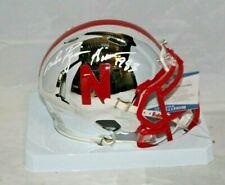Mike Rozier Autographed Signed Nebraska Cornhusker CHROME Mini Helmet JSA