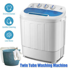 Portable Washing Machine 13 lbs Compact Twin Tub Laundry Washer & Spinner Dryer