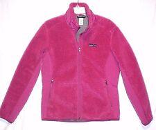 Patagonia Retro-X Fleece Jacket L Pink Deep Pile Coat Plush Zip Front Classic