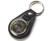 CAIRN TERRIER Dog Puppy Quality Leather and Chrome Keyring
