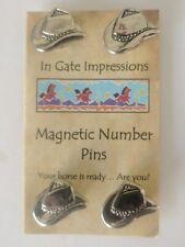 Cowboy Hat Magnetic number pins Number Magnets horse show number magnet holders