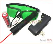 Rx2 650nm Adjustable Focus Burning Red Laser Pointer Battery & Goggles & Charger