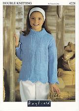 HAYFIELD knitting pattern girls sweater jumper DK 22-28