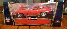 Bburago Jaguar E Coupe 1961 1:18 DiCast Model Red Car