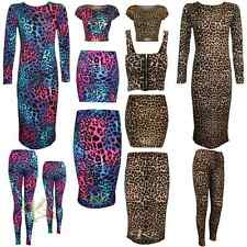 New Women Stylish Leopard Print Midi Dress/Crop Top/Bra Top/Skirts By K K 8-26