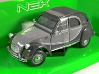Citroen Charleston 2CV 1982 - Grey/Black 1/24 Welly Model Car