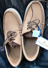 Massimo Dutti Tan Leather Boy's Boat Shoes Loafers  Sz 4 US - New