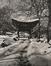 1929 KOREA Vintage Photogravure BUDDHIST MONASTERY Spiritual Asian Art by GRAEFE