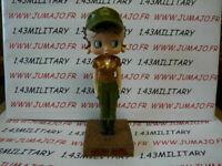BB3K figurine Betty boop resine en blister MIB 15 cm environ : Militaire