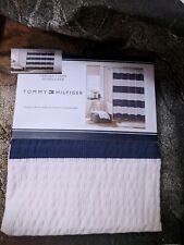 New! Tommy Hilfiger Fabric Shower Curtain Cabana Stripe Blue/White