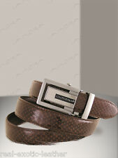 Brown Cobra Snake Skin Belt  ### Genuine Snakeskin ###