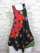 SOMMER Kleid Strandkleid Tunika Trägerkleid Hippie Schwarz Gr. 42 44 46 (1501)
