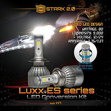 Stark 80W 9000LM Flip COB Chip LED Kit 6000K Headlight High Beam Bulbs - H7 (2)