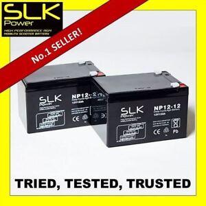 Pair SLK  POWER 12V 12Ah Sealed Lead Acid AGM Mobility Scooter Battery ES12 12