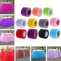 "2""x 25YD Tutu Tulle Rolls Craft Soft Fabric Wedding Skirts Favours Netting Decor"