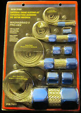 Spectre 7496 Hose Sleeving Magna Braid II Stainless Steel Blue Clamps