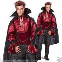 C899 Dashing Vampire Mens Dracula Halloween Fancy Dress Costume Outfit +  Cape