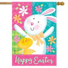 "Easter Celebration Bunny House Flag Chick 28"" x 40"" Briarwood Lane"