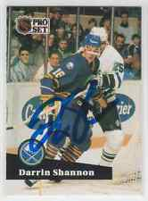 Autographed 91/92 Pro Set Darrin Shannon - Sabres