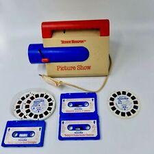 Vintage 1989 Teddy Ruxpin Picture Show Slide Projector Slides Cassettes Lot 6